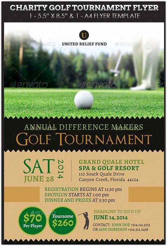 Golf Outing Invitation Template Inspirational Charity Golf tournament Flyer Hd 2
