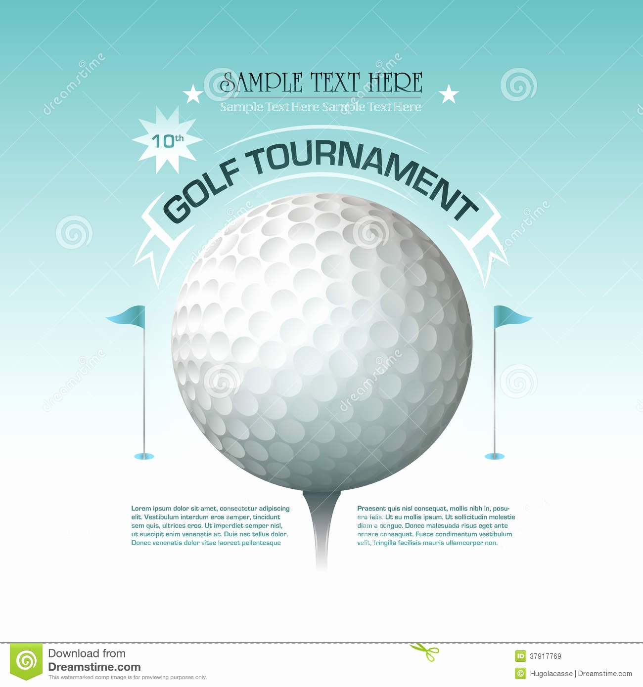 Golf Outing Invitation Template Inspirational Golf tournament Invitation Banner Background Royalty Free