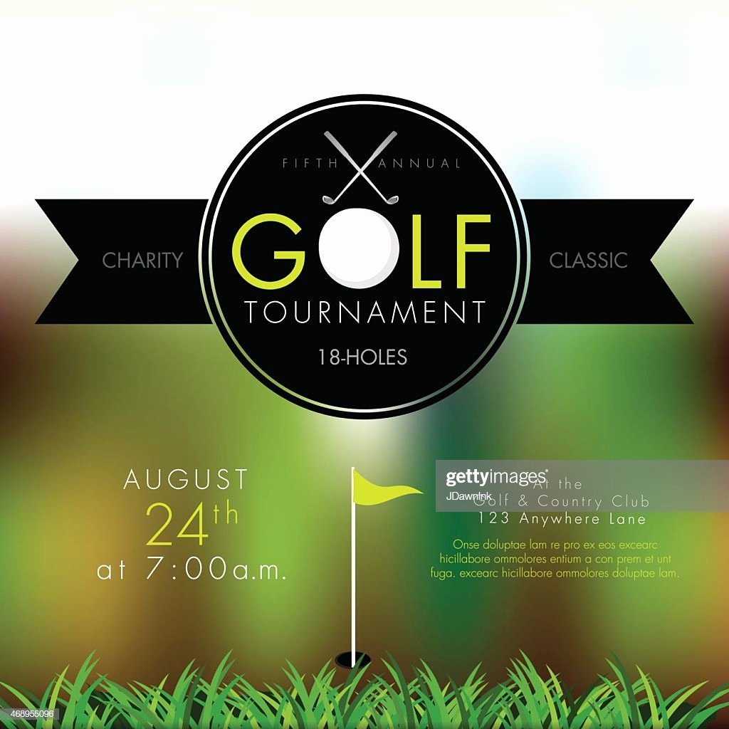 Golf Outing Invitation Template Lovely Elegant Golf tournament Invitation Design Template