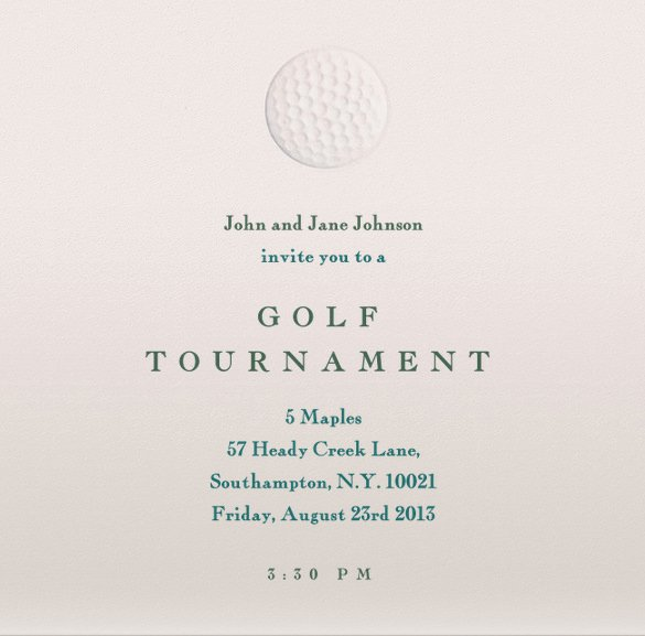 Golf Outing Invitation Template Unique Golf tournament Invitation Templates