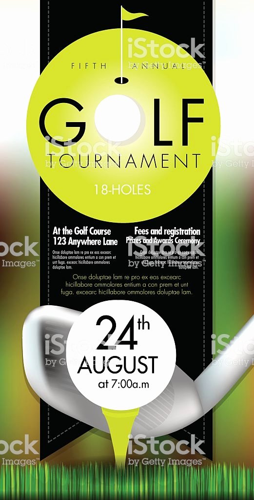 Golf tournament Invitation Template Awesome sophisticated Golf tournament Invitation Design Template