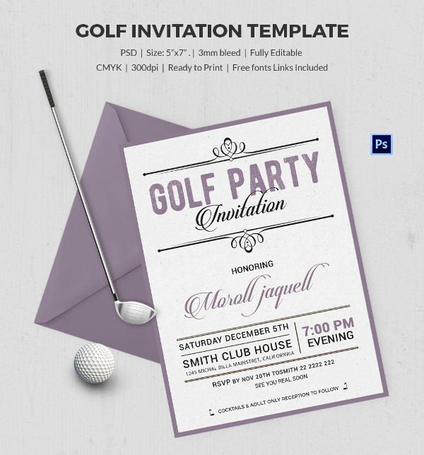 Golf tournament Invitation Template Beautiful 25 Fabulous Golf Invitation Templates & Designs
