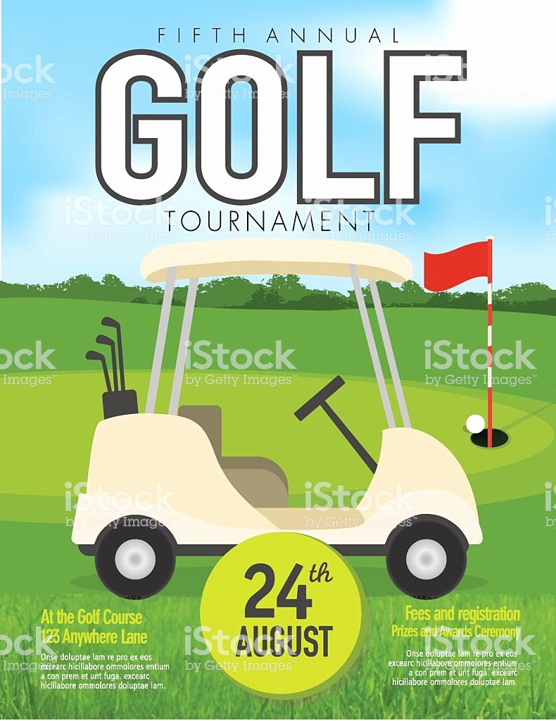 Golf tournament Invitation Template Elegant Golf tournament with Golf Cart Invitation Design Template