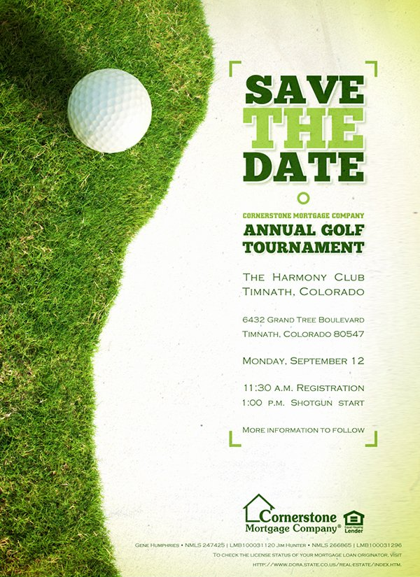"Golf tournament Invitation Template Inspirational 2011 Cornerstone ""colorado"" Golf tournament Collateral On"
