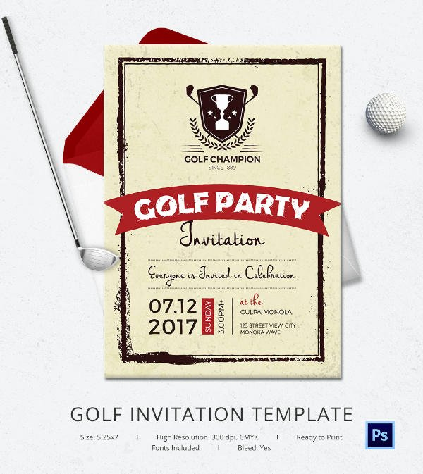 Golf tournament Invitation Template Lovely 25 Fabulous Golf Invitation Templates & Designs
