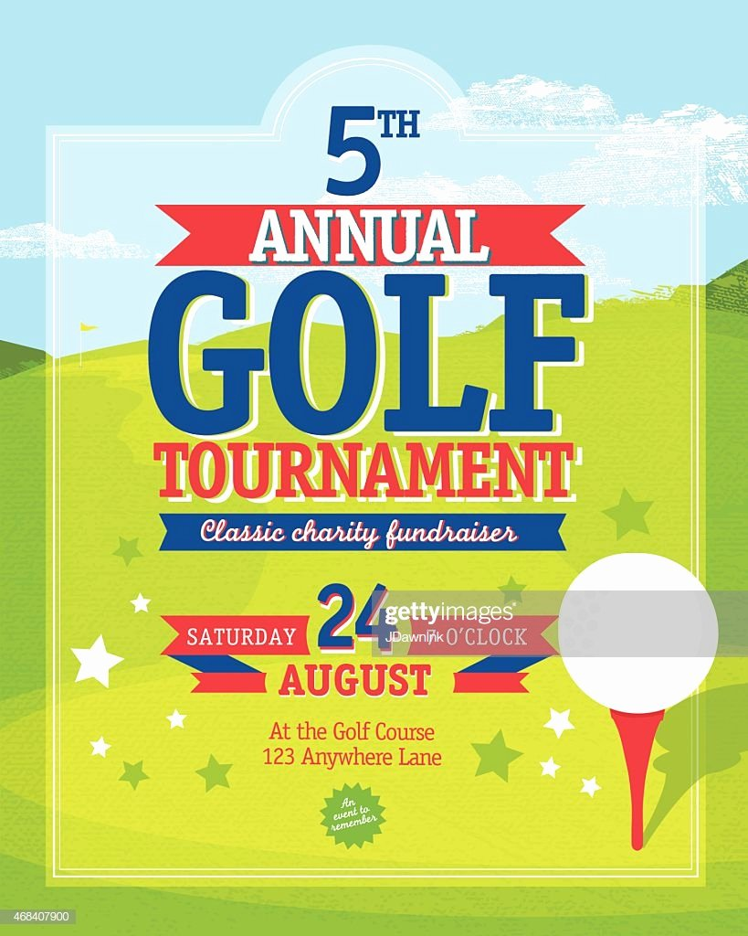 Golf tournament Invitation Template Lovely Independence Day Golf tournament Invitation Design