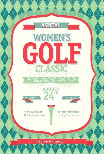 Golf tournament Invitation Template Lovely Redl Womens Golf tournament Invitation Design Template