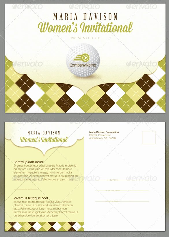 golf invitation template