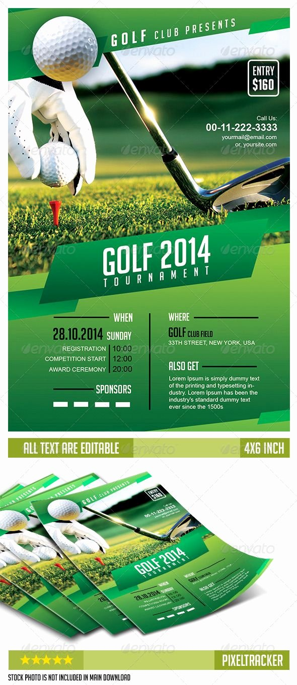 Golf tournament Invitation Template Luxury 8 Best Golf Poster Ideas Images On Pinterest