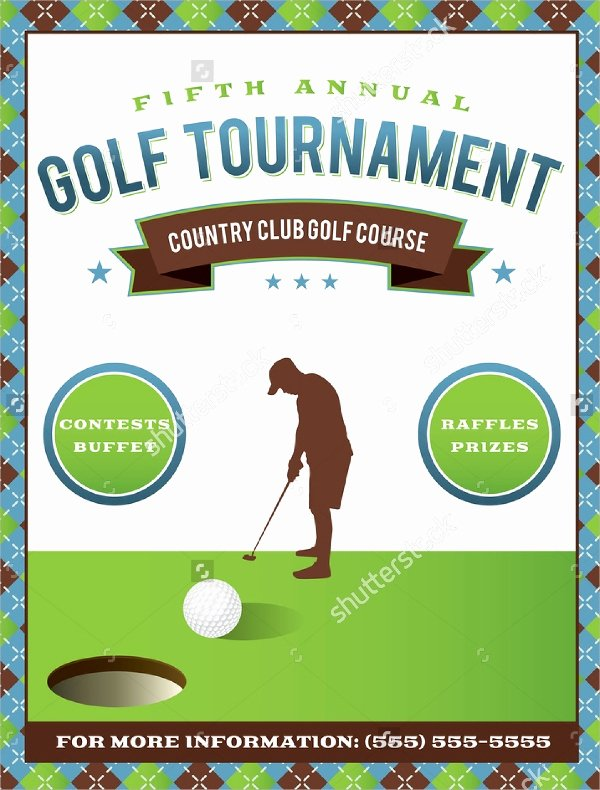 Golf tournament Invitation Template Luxury Golf tournament Flyer Template 24 Download In Vector