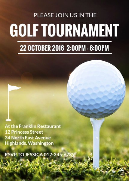 Golf tournament Invitation Template Luxury Golf tournament Invitation Template