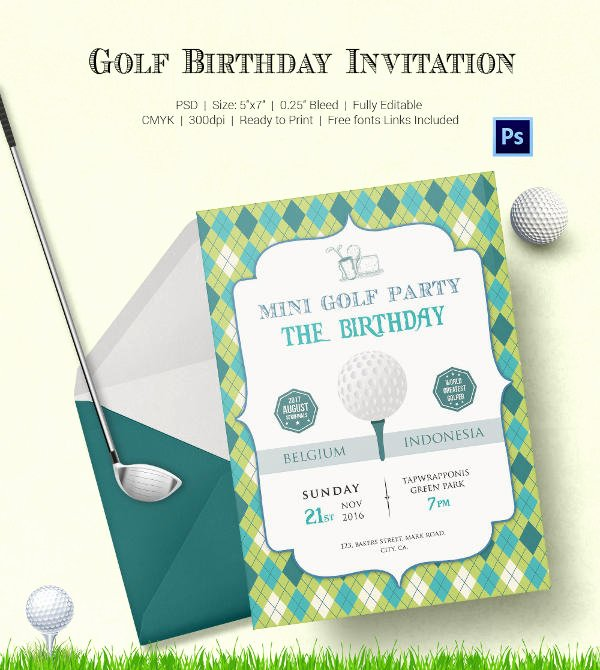 Golf tournament Invitation Template New 25 Fabulous Golf Invitation Templates & Designs