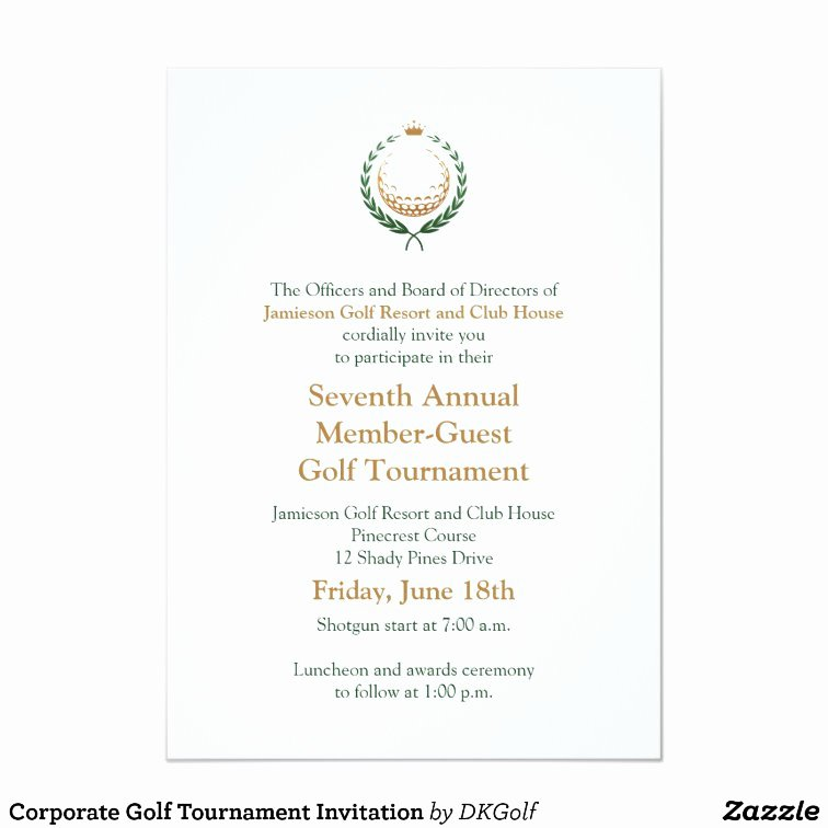 Golf tournament Invitation Template New Corporate Golf tournament Invitation