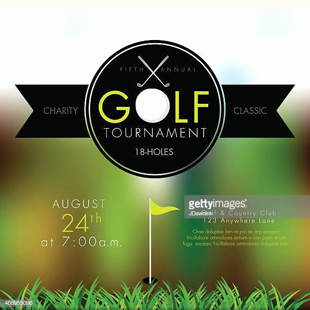 Golf tournament Invitation Template New Golf Vector Art and Graphics