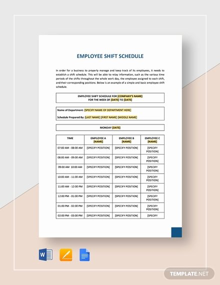 Google Docs Employee Schedule Template Luxury Weekly Employee Shift Schedule Template Word