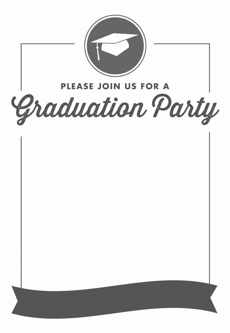 Graduation Dinner Invitation Template Awesome Blank Graduation Invitation Templates