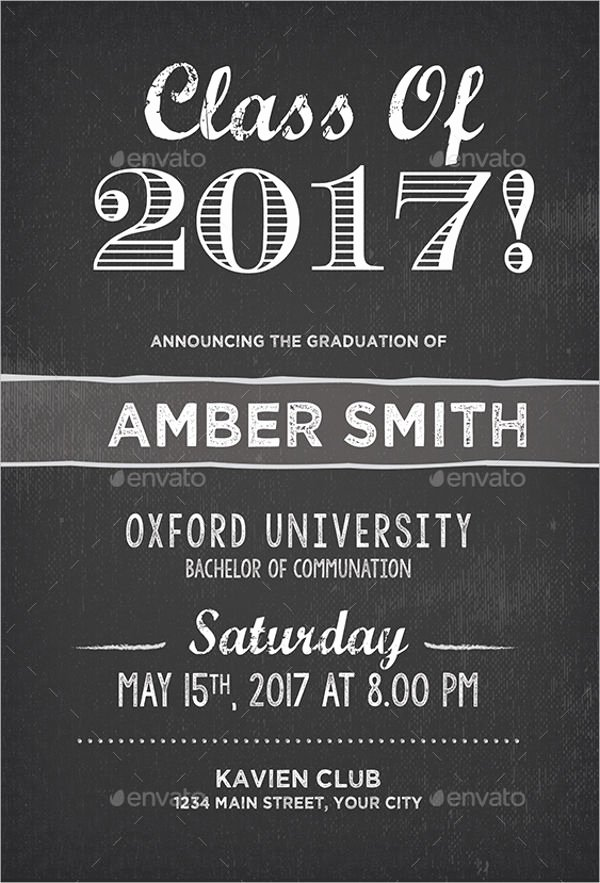 Graduation Dinner Invitation Template Beautiful 12 Graduation Party Invitation Designs & Templates Psd
