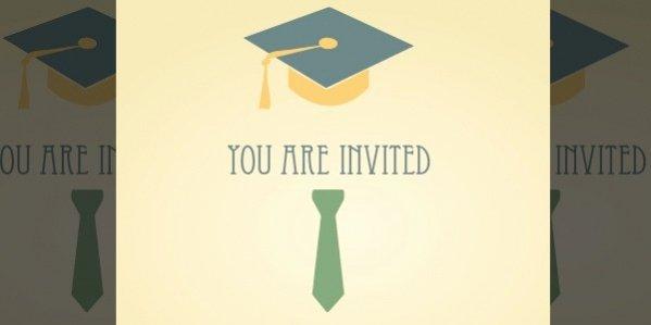 Graduation Dinner Invitation Template Beautiful 22 Free Graduation Invitation Designs Psd Ai