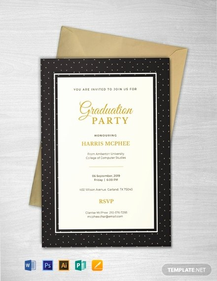 Graduation Dinner Invitation Template Beautiful 55 Free Rsvp Card Invitation Templates Word