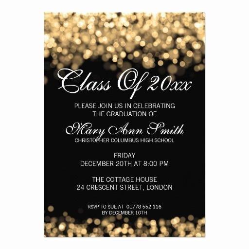 Graduation Dinner Invitation Template Best Of Elegant Graduation Party Gold Lights Invitation
