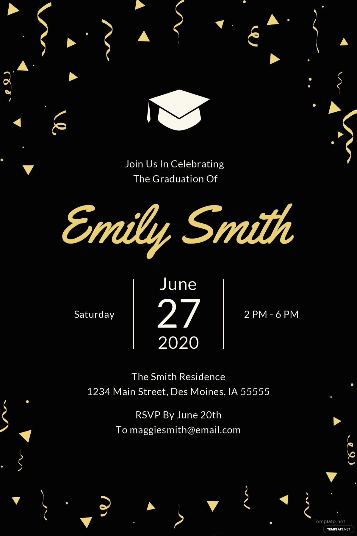 Graduation Dinner Invitation Template Best Of Free Graduation Invitation Template In Microsoft Word