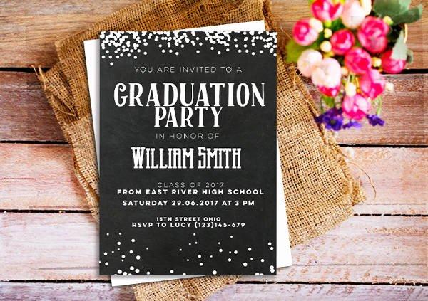 Graduation Dinner Invitation Template Elegant 43 Printable Graduation Invitations