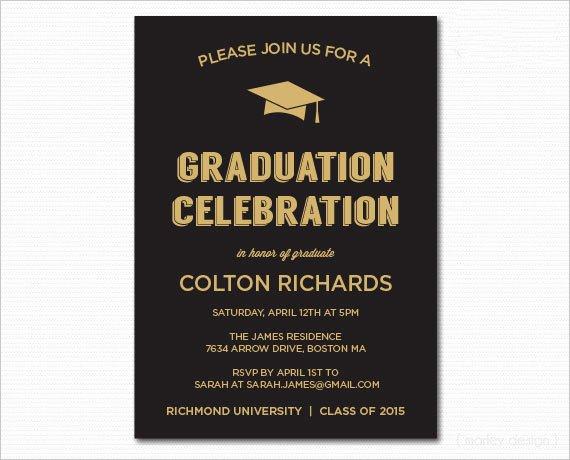 Graduation Dinner Invitation Template Fresh 49 Graduation Invitation Designs & Templates Psd Ai