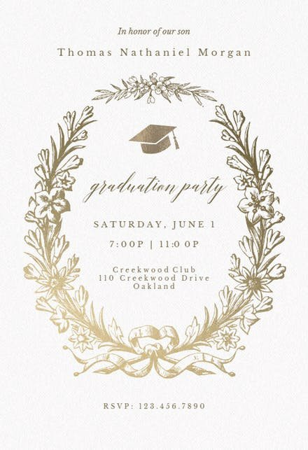 Graduation Dinner Invitation Template Fresh Graduation Party Invitation Templates Free