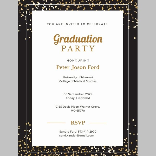 Graduation Dinner Invitation Template Inspirational 42 Sample Graduation Invitation Designs & Templates Psd