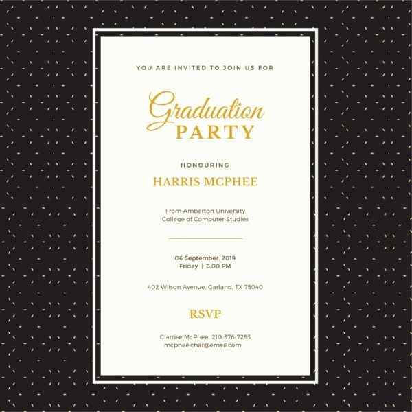 Graduation Dinner Invitation Template Luxury 42 Sample Graduation Invitation Designs & Templates Psd