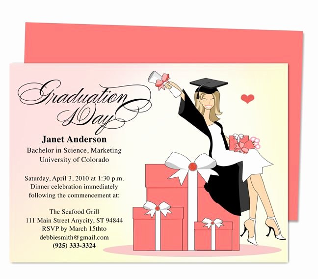 Graduation Party Invitation Template Free Awesome 46 Best Printable Diy Graduation Announcements Templates