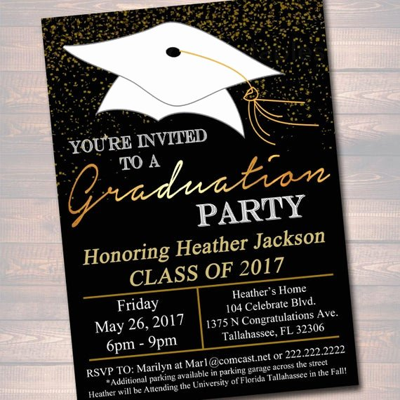 Graduation Party Invitation Template Free Awesome Editable Graduation Party Invitation High School Graduation