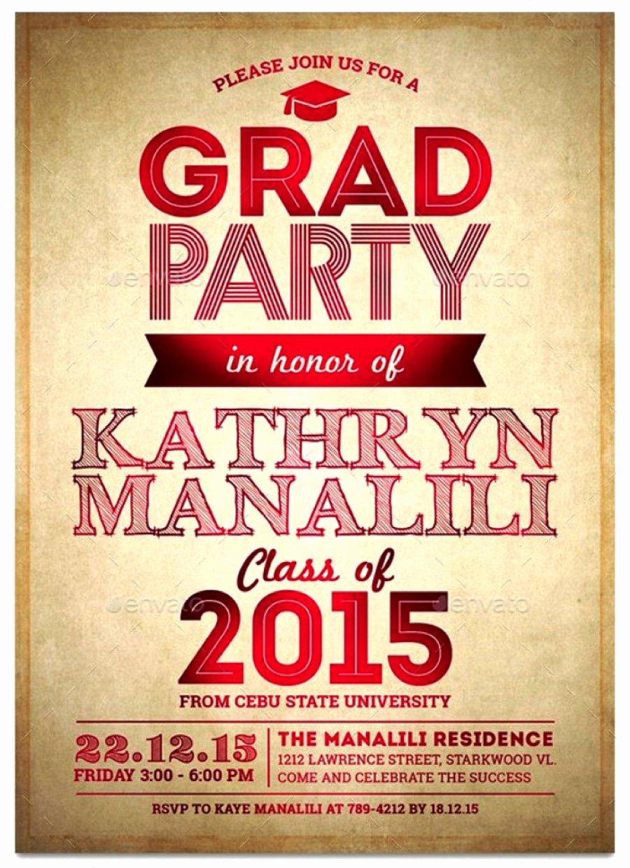 Graduation Party Invitation Template Free Beautiful 40 Free Graduation Invitation Templates Template Lab
