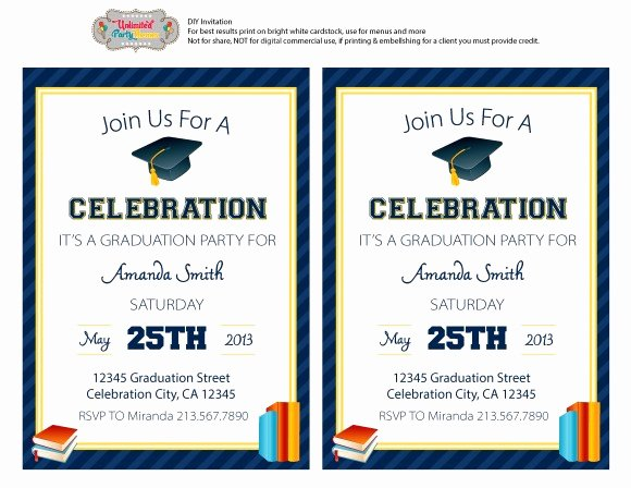 Graduation Party Invitation Template Free Best Of Free Graduation Party Printables From Unlimited Party