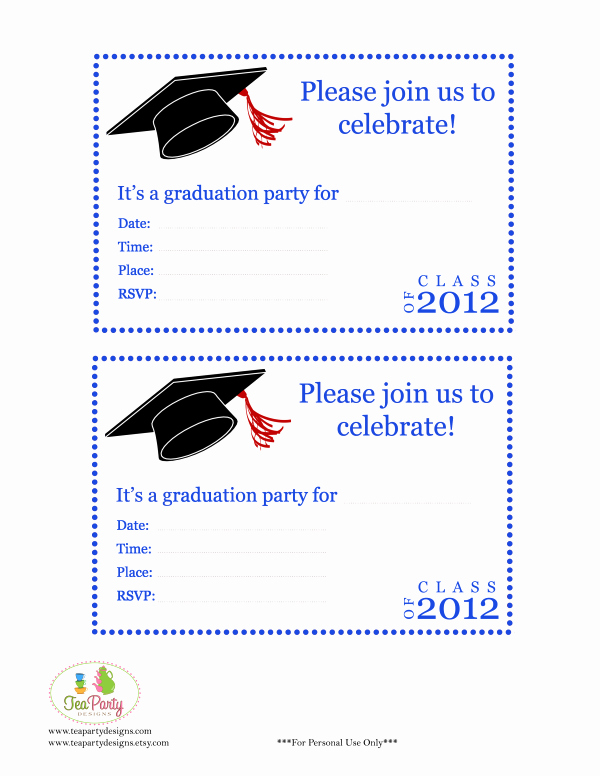 Graduation Party Invitation Template Free Best Of Free Print Graduation Announcements Template Invitation