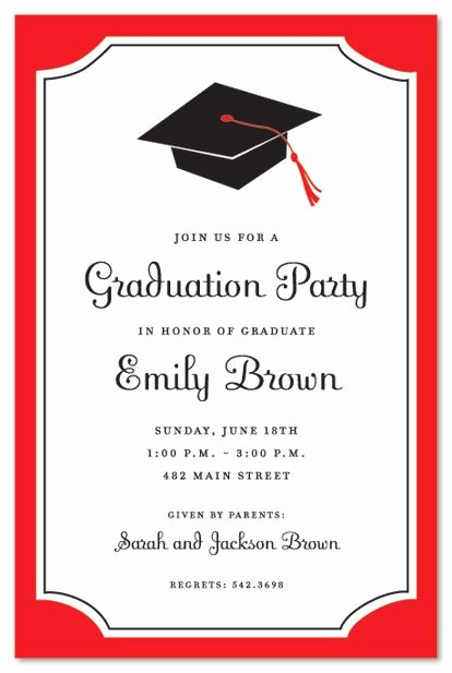 Graduation Party Invitation Template Free Elegant Graduation Invitations