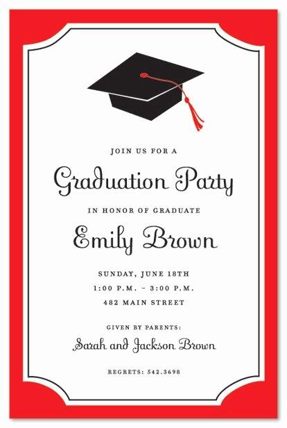 Graduation Party Invitation Template Free Elegant Graduation Invitations