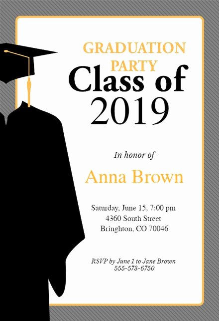 Graduation Party Invitation Template Free Elegant Graduation Party Invitation Templates Free