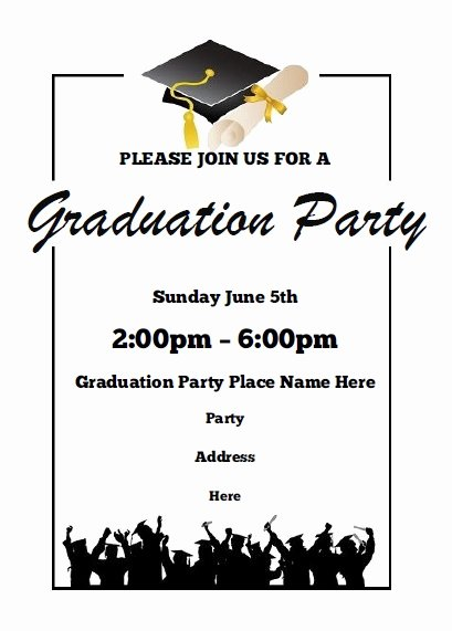 Graduation Party Invitation Template Free Elegant Graduation Party Invitations Free Printable