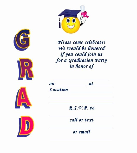 Graduation Party Invitation Template Free Fresh Free Printable Graduation Party Invitations Templates