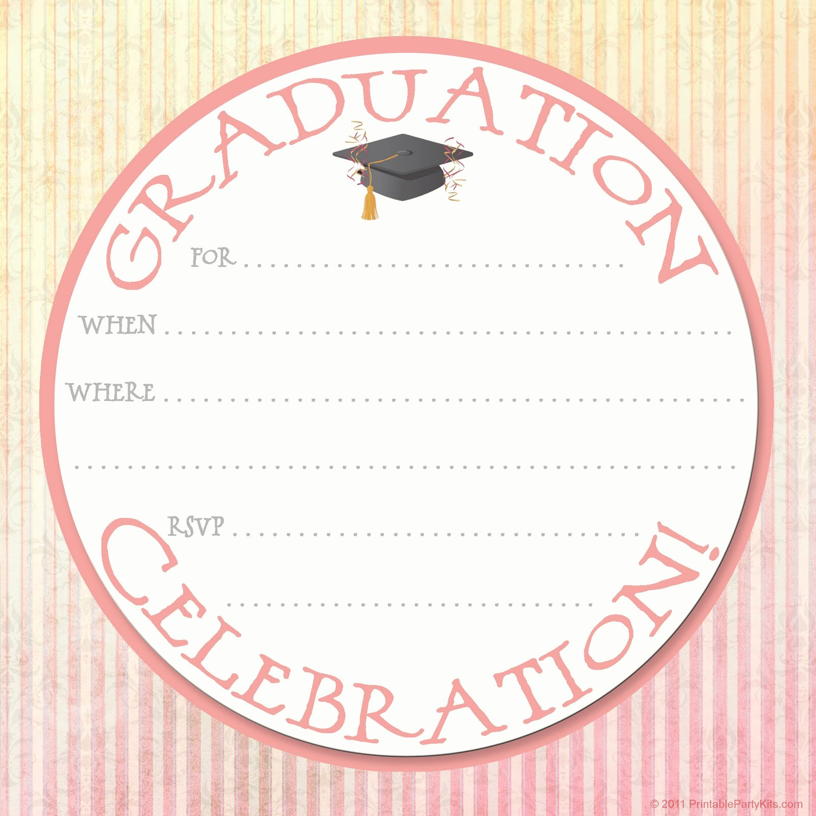 Graduation Party Invitation Template Free Fresh Free Printable Party Invitations Graduation Party
