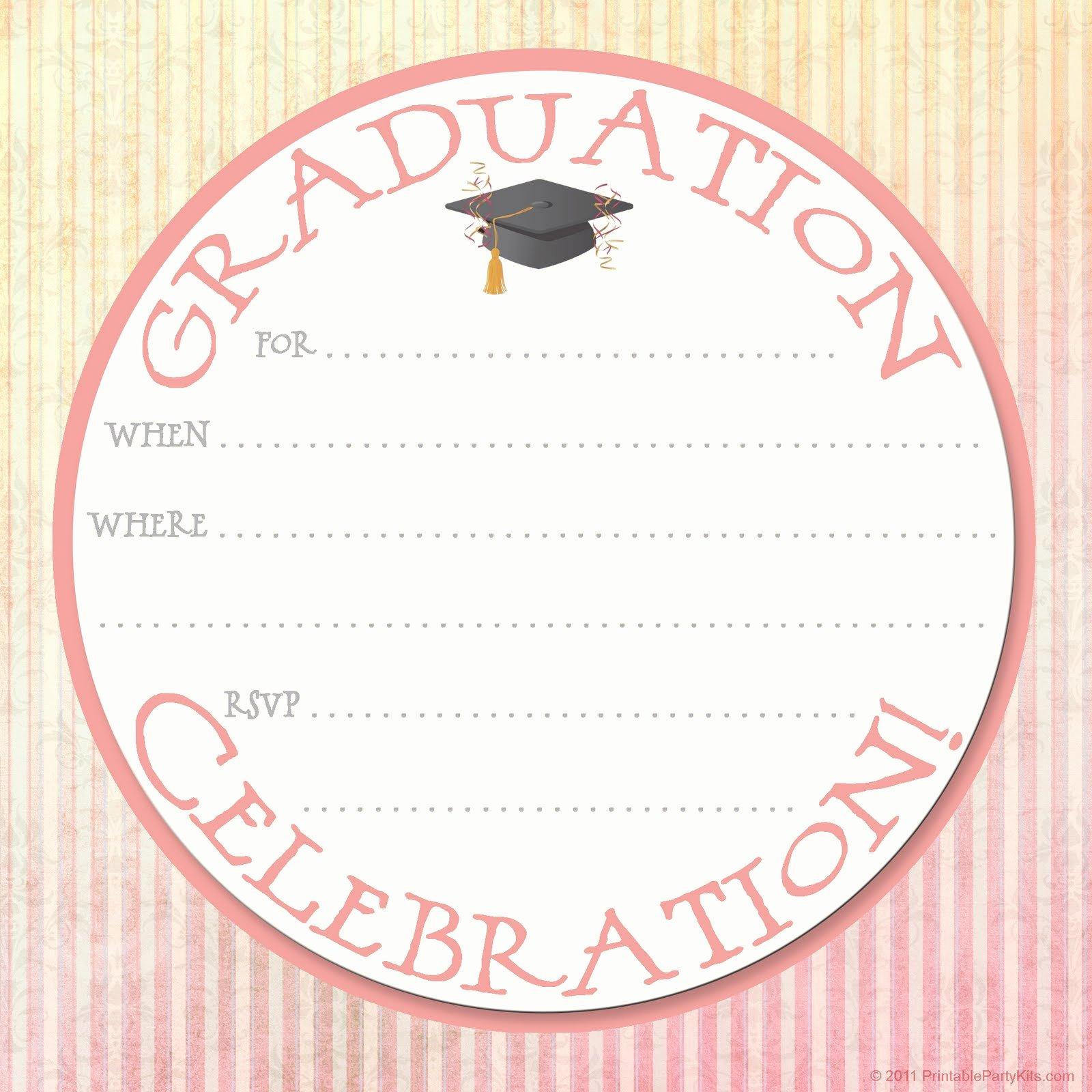 Graduation Party Invitation Template Free Fresh Free Printable Party Invitations Graduation Party