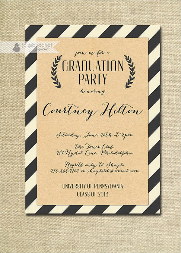Graduation Party Invitation Template Free Lovely Free 11 Beautiful Graduation Invitation Templates In