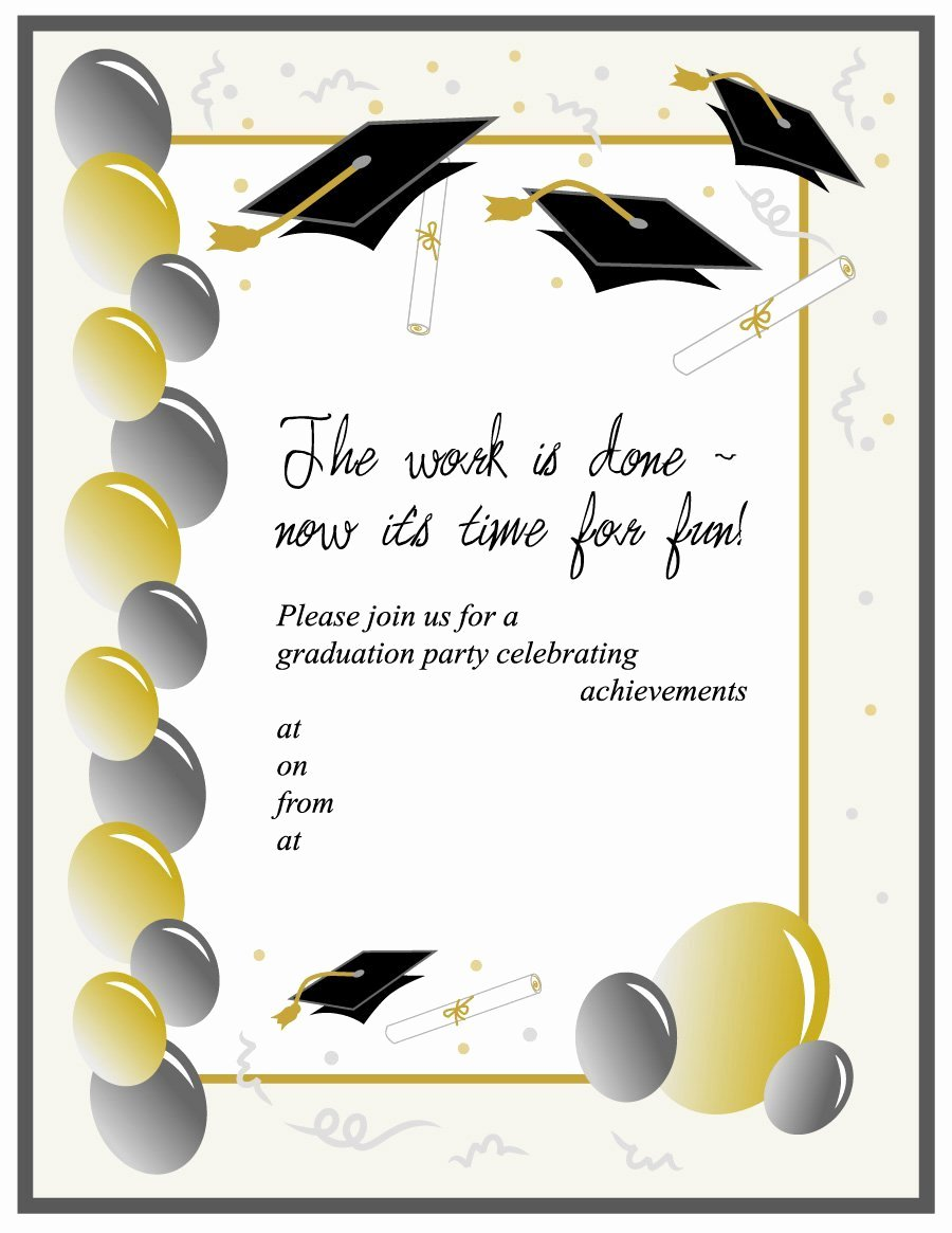 Graduation Party Invitation Template Free Luxury 40 Free Graduation Invitation Templates Template Lab