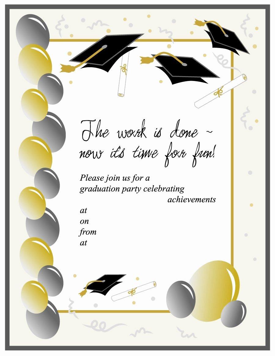 Graduation Party Invitation Template Free Luxury 40 Free Graduation Invitation Templates Template Lab