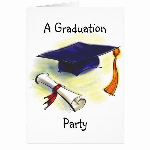 Graduation Party Invitation Template Free Luxury Graduation Party Invitation Template Greeting Card