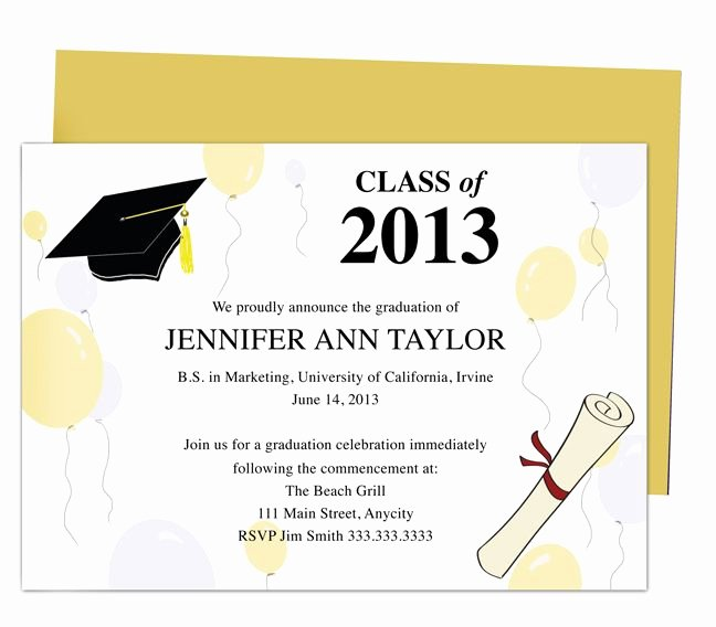 Graduation Party Invitation Template Free Luxury Printable Diy Templates for Grad Announcements Partytime