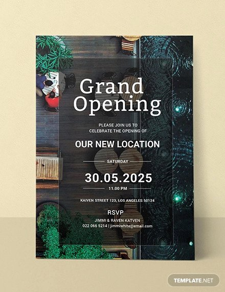 Grand Opening Invitation Template Free Beautiful 19 Opening Invitation Templates Psd Ai