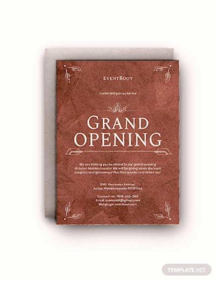 Grand Opening Invitation Template Free Best Of 19 Opening Invitation Templates Psd Ai