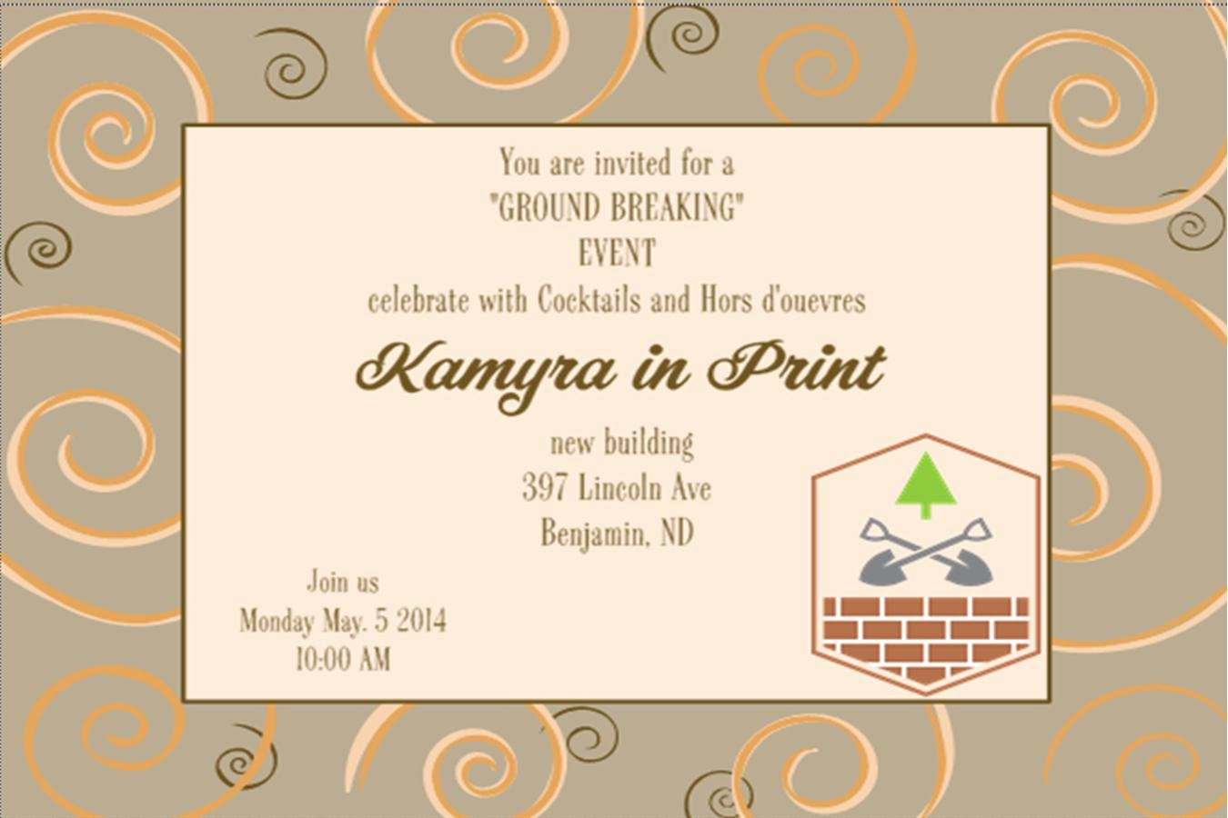 Grand Opening Invitation Template Free Elegant Grand Opening Invitations and Ground Breaking Invitations